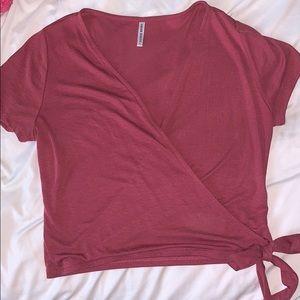 Red/Pink Toed Crop Top